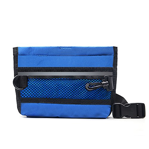 - Wellbro Reflective Dog Treat Pouch, Handy Pet Training Waist Bag, Featured with Spring Hinge Closure and Mesh Pocket, Easy to Carry Treats and Toys, For Rapid Reward to Pets, Blue