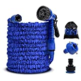 UPSTONE Motionx Expandable Water Hose 50ft,Lightweight Garden Flexible Hose with 7 Function Spray Hose Nozzle Free Storage Sack and Water Hose Hanger