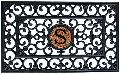 Calloway Mills 150011830S Rubber Monogram Doormat, 18 x 30 Letter S