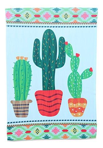 Cactus Garden Flag; Southwest Home Decor Small Mini Vertical