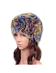 UK.GREIFF Womens Fashion Warm Stretch Tribal Style Fur Winter Cap Beanie Skull Hat