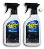 (2 Pack) Cerama Bryte Touchups Ceramic Cooktop Cleaner Trigger...