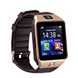 DEEP GLOBAL Micromax Joy X1800 Compatible Bluetooth Smart Watch Mobile Phone Touch Screen Digital Watch With Camera and Sim Card Support With Apps like Facebook and WhatsApp Multilanguage Android/IOS Wrist Watch Phone with Activity Trackers and fitness Band features