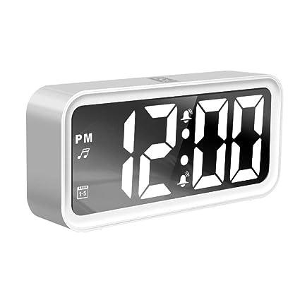 LED Digital Alarma Despertador Alarma Digital de Pantalla ...