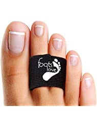 Foots Love - Discover How To Straighten Toes. Copper Healing Toe Straightener - Toe Separators - Broken Toe Splint