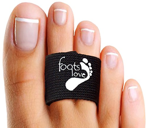 Foots Love Infused Copper Healing Toe Straightener-Hammer Toes, Toe Separators- Broken Toe Splint-Turf Toe Pads. Superior to Toe Tape. Doctor Recommend Toe Pain Gone