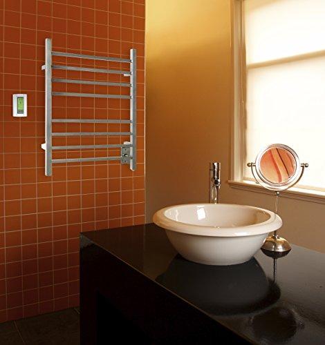 WarmlyYours 8-Bar Sierra Towel Warmer, Hardwired, Polished Stainless Steel by WarmlyYours (Image #1)