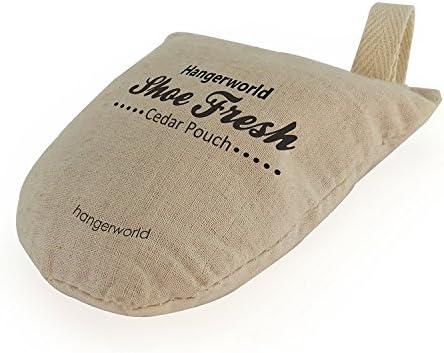 Hangerworld 4 Schuh Erfrische Säckchen mit Zedernholt Geruchsentferner