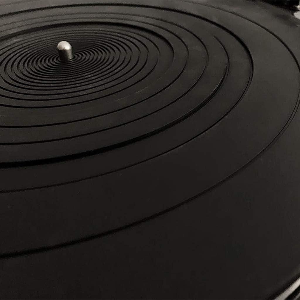 luosh Anti-Vibration Silicone Pad Caoutchouc LP Tapis antid/érapant pour phonographe Platine Vinyle lecteurs de disques Accessoires