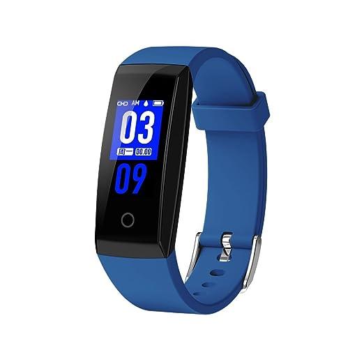 Reloj deportivo WEIWEICARE con monitor de ritmo cardíaco inteligente W8 de 0,96 pulgadas, TFTSmart, reloj con pulsera Bluetooth 4.0 y pulsera de actividad: ...