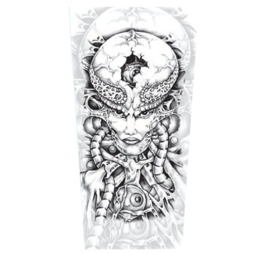 Efivs Arts D81-mold Fake Tattoo Arm Sleeves Covered up Temporary Arm