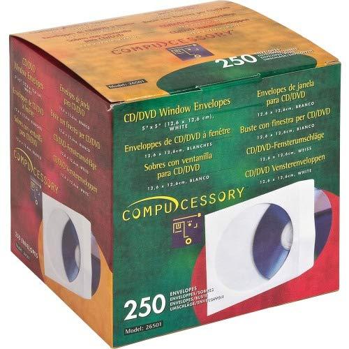 Compucessory 26501 CD/DVD Window Envelopes 5