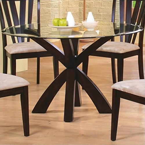 Coaster Home Furnishings 101071 Casual Dining Table Base, Deep Merlot Finish