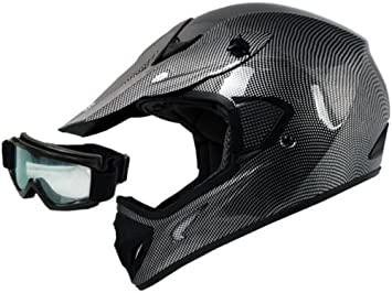 TMS adulto de fibra de carbono gráfica Dirt Bike ATV Motocross Off-Road MX Casco