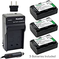 Kastar Battery (3-Pack) + Charger for Sony NP-FH50, NP-FH40, NP-FH30 and DSLR-A230, DSLR-A330, DSLR-A290, DSLR-A380, DSLR-A390, HDR-TG1E, HDR-TG3, HDR-TG5, HDR-TG7, DSC-HX1, DSC-HX200, DSC-HX100V
