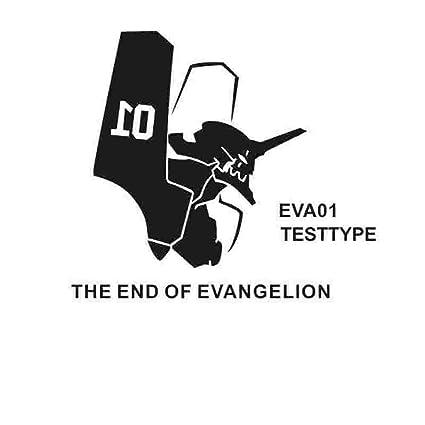 yaoxingfu Pegatina Neon Genesis Evangelion Sticker Anime Cartoon Eva Car Decal Sticker Vinilo Pegatinas de Pared