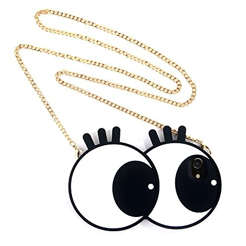 Learn More About Big Eyes Case for iPhone 6 6S w/Crossbody Metal Chain, Miniko(TM) 3D Cute Funny Car...