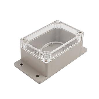 sourcingmap 100x68x50mm Caja de conexiones de Cubierta transparente Caja Electrónica de Proyectos: Amazon.es: Industria, empresas y ciencia