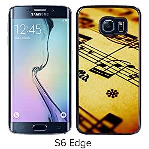 Compose Music Note Background Durable High Quality Samsung Galaxy S6 Edge Case