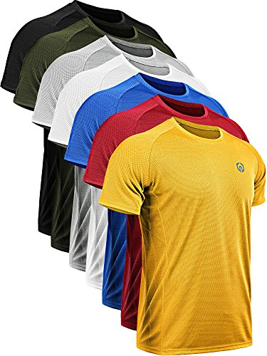 Neleus Men's Dry Fit Mesh Athletic Shirts 3 1 Pack