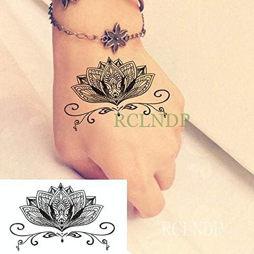5pcs Tatuaje Impermeable Etiqueta Flor de Loto Tatuaje Tatto ...