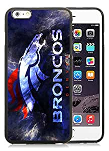 denver broncos Black iPhone 6 Plus 5.5 inch Screen TPU Phone Case Handmade and Newest Design