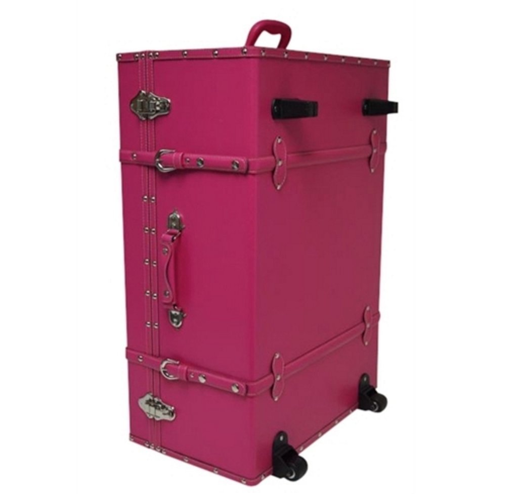 The Designer Wheeled Trunk - Cherry Pink - Large