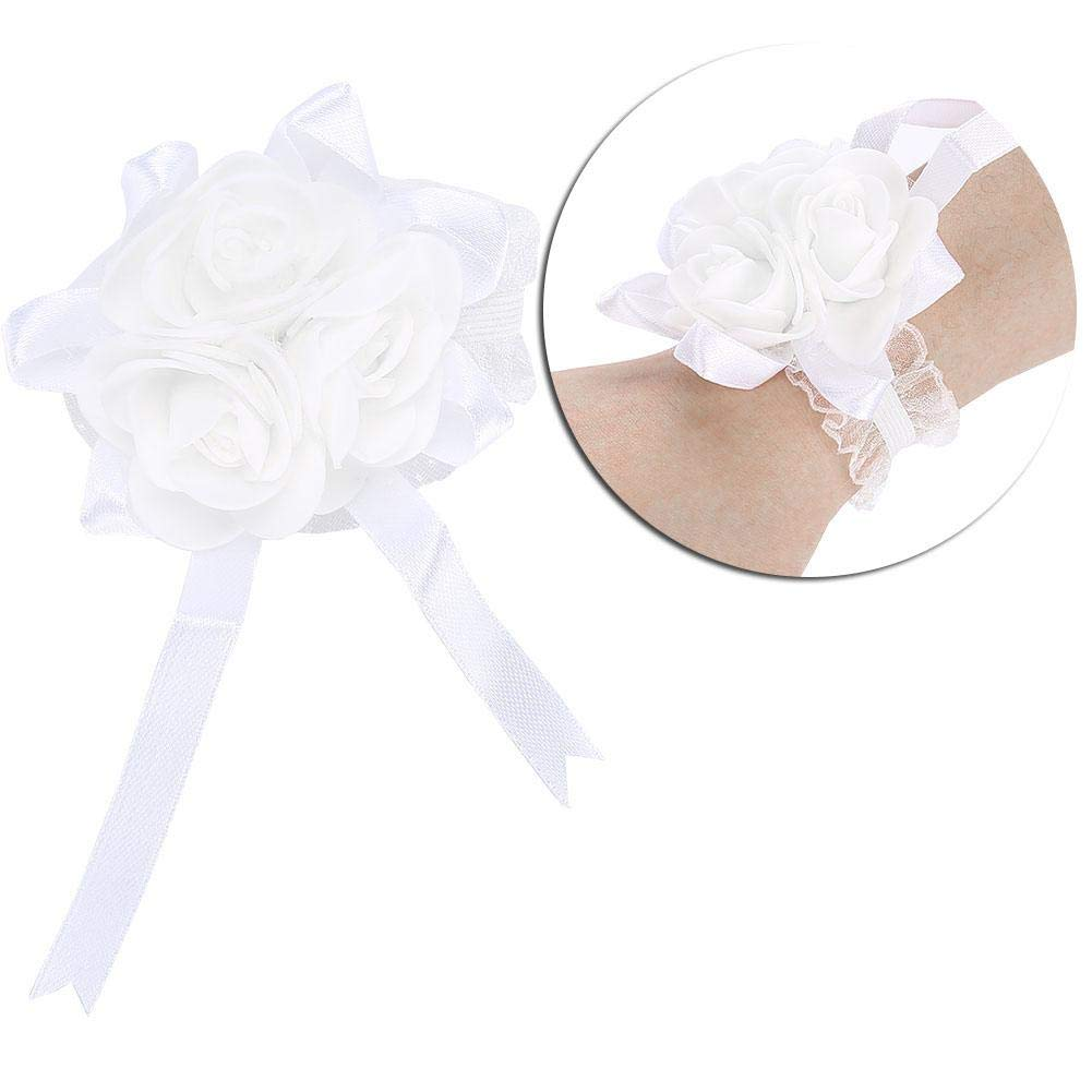 f/ête Bal de Salmue Fleur de Main Corset de Poignet de Bal d/étirement de Strass de Ruban de Strass de Mariage pour Le Mariage Blanc