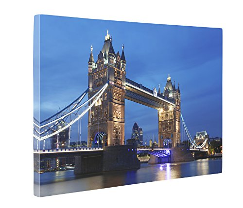 Niwo Art (TM) - 07 London Cityscape Picture On Canvas - Giclee Wall Art for Home Decor, Gallery Wrapped, Stretched and Framed Ready to Hang (16