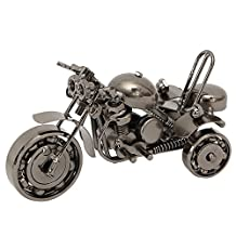 Figurine Motorcycle Collectible Art Decor Creative Scooter Metal Crafts DIY Motorcycle Craft For Christmas Best Gift Kangsanli (silver)