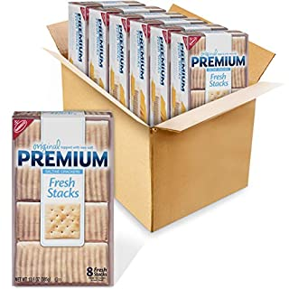 Premium Original Fresh Stacks Saltine Crackers, 6 - 13.6 oz Boxes
