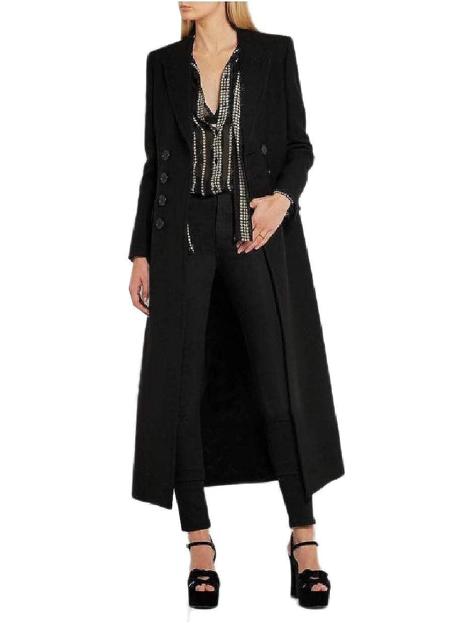 Winwinus Womens Overcoat Wool Blend Classic Full Length Slimming Pea Coat
