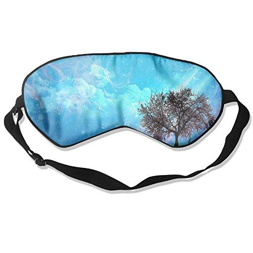 WUGOU Sleep Eye Mask Tree Art Paint Lightweight Soft Blindfold Adjustable Head Strap Eyeshade Travel Eyepatch