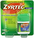 Zyrtec Allergy Relief Tablets, 70 Count, Health Care Stuffs