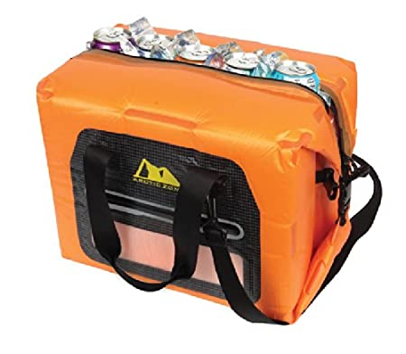 Arctic Zone 30 Can Self-Inflating Air Cooler Orange Large California Innovations 69-36300-12-04