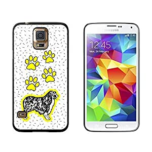 New Style Australian Shepherd Dog of Radiance - Snap On Hard Protective Case for Samsung Galaxy S5 - Black