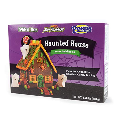 No-Bake Halloween Haunted House Cookie Kit with Chocolate Cookies, Candy, Icing and Instructions Included