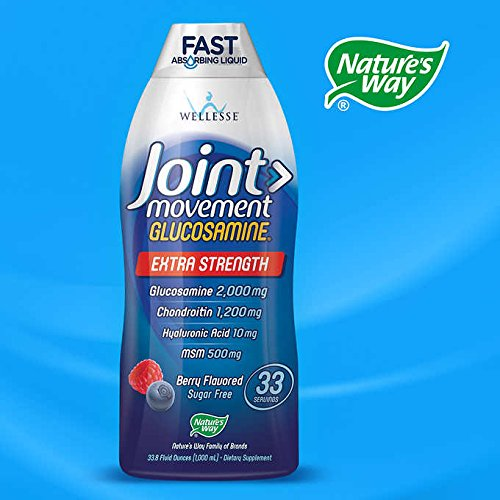 Wellesse Joint Movement Glucosamine with Chondroitin + MSM, Natural Berry Flavor, SP Four Pack ( 4000ml Total ) Wellesse-Sx