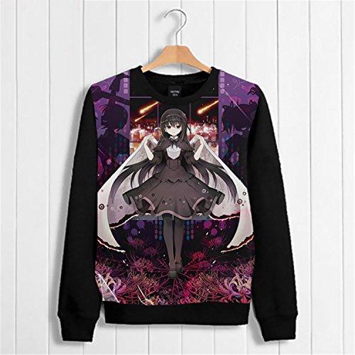 [Vicwin-One Puella Magi Madoka Magica Thick Hoodie Pullover Cosplay (Size M)] (Puella Magi Madoka Magica Madoka Kaname Cosplay Costume)