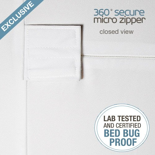 """Queen Size SafeRest Waterproof Lab Certified Bed Bug Proof Zippered Box Spring Encasement - Designed For Complete Bed Bug, Dust Mite and Fluid Protection 9"""""""