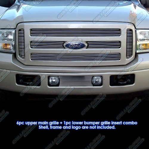 APS Fits 05-07 Ford F-250/F-350 Super Duty Billet Grille Combo #F67881A