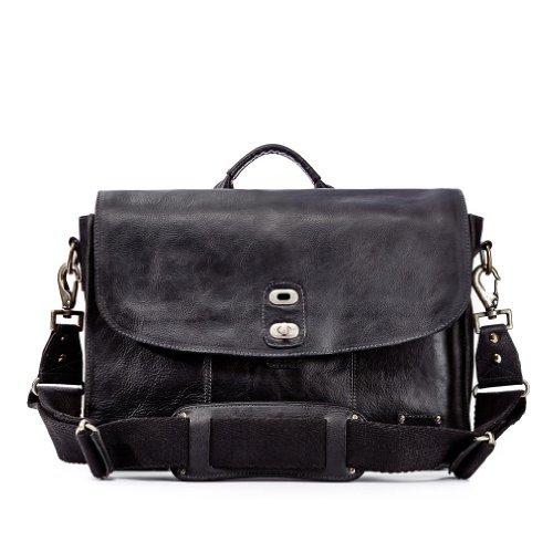 Will Leather Goods - Bolso bandolera de piel  Hombre negro