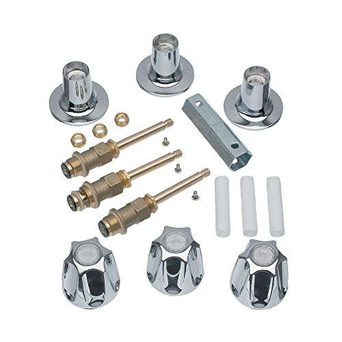 Diverter Bath Washer (DANCO (39619) Bathtub and Shower 3-Handle Rebuild Trim Kit for Price Pfister Verve Faucets, Chrome Finish, 1-Pack)