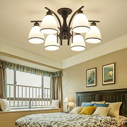XUEXIN Luxury Contemporary Chandelier, 6-head light European Ceiling Lamp for Bedroom Living Room Restaurant Lighting by XUEXIN (Image #2)