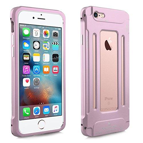 Alienwork Schutzhülle für iPhone 6 Plus/6s Plus Roségold Hülle Case Bumper Stoßfest modisch Aluminium pink AP6SP07-03