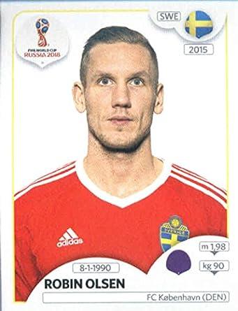 174c31eb7 2018 Panini World Cup Stickers Russia  474 Robin Olsen Sweden Soccer Sticker