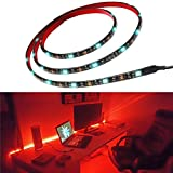 "Bias Lighting for HDTV Multi Color RGB LED Strip USB TV Backlighting Home Theater Accent lighting 35.4"" Led Strip Light Indoor Home Decoration"