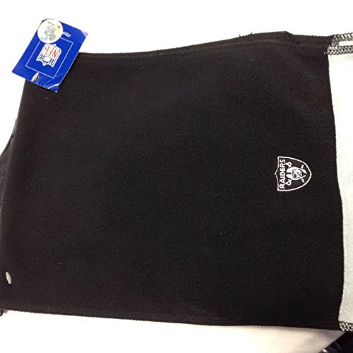 oakland raiders NFL solid black fleece scarf
