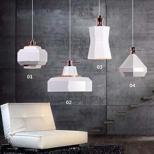 GF_ Restaurant bar geometry small chandeliers,White 02