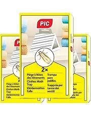PIC kleding-mottenval - set van 3 = 6 stuks - middel tegen kledingmotten, geschikt voor bescherming van alle kleding in de kast en in de opslag - mogelijke verzending naar Oostenrijk